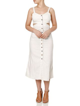 Vestido Midi Feminino Autentique Bege
