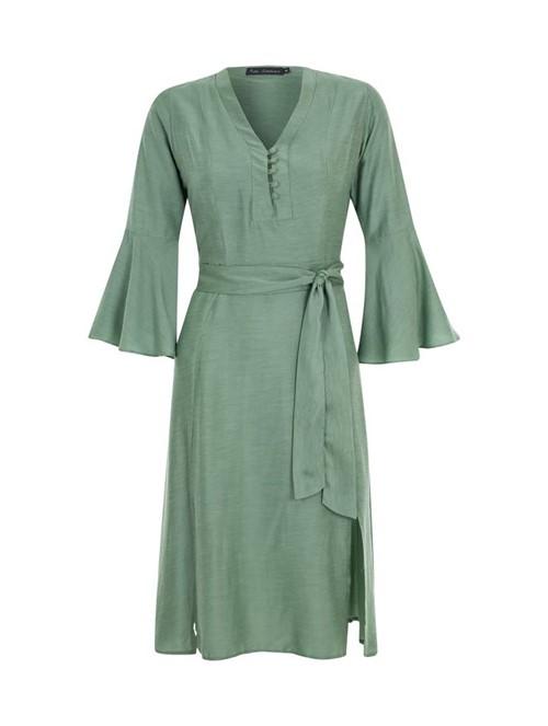 Vestido Midi Jade Verde Tamanho 36