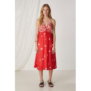 Vestido Midi Mag Red Est Mag Red - 36