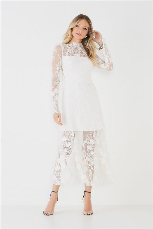 Vestido Midi Nathania - Off White 34