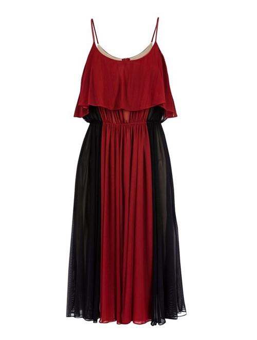 Vestido Midi Rodado Preto Tamanho 36