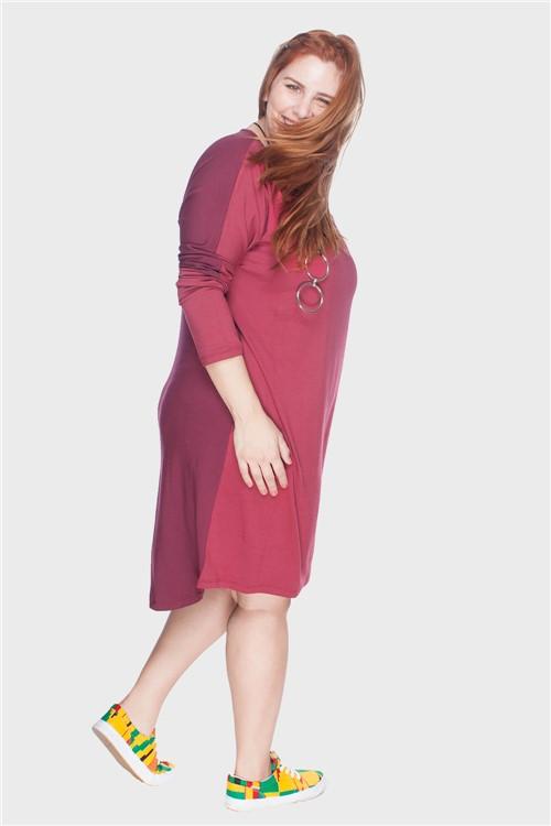Vestido Mullet Plus Size Vermelho-46/48