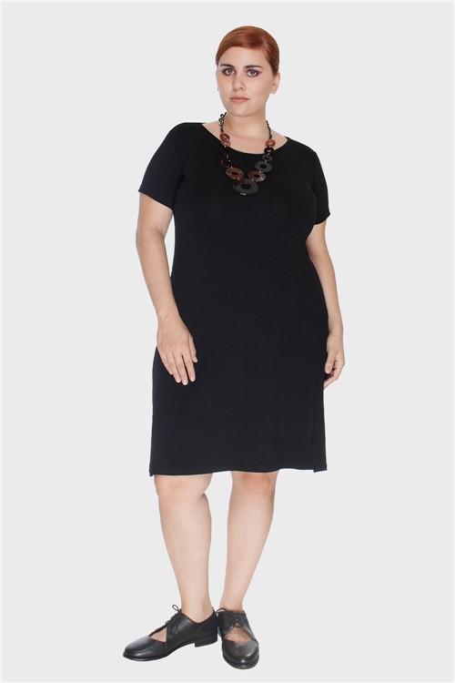Vestido Pala Torcida Plus Size Preto-58/60