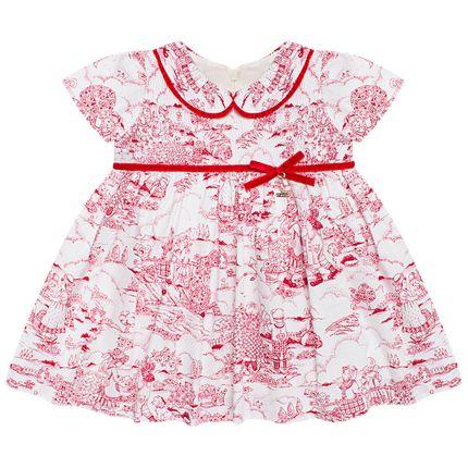 Vestido para Bebê em Cambraia Toile Du Jouy - Roana