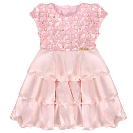 Vestido para Bebe em Cetim Charlotte - Miss Sweet