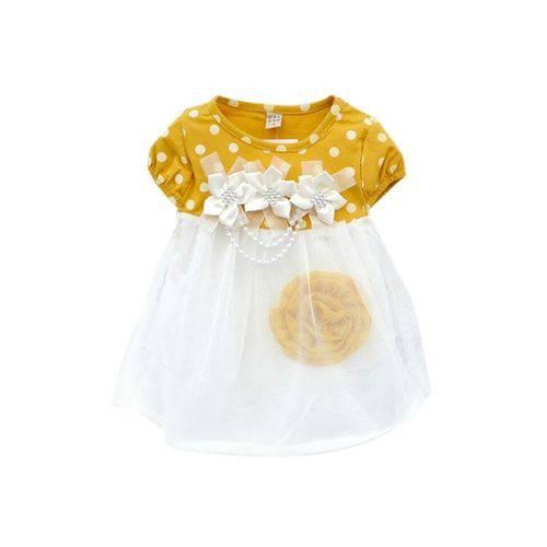 Vestido para Bebe Menina Conjunto Vestido de Bebe Menina