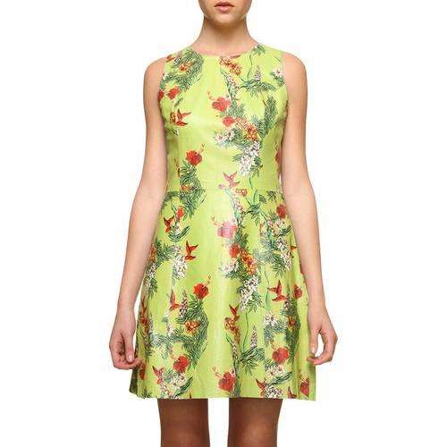 Vestido Pat Pat's Couro Floral Verde 38