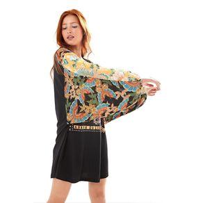 Vestido Patch Arara Multicolorido - PP