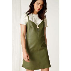 Vestido Pesponto a Fio Verde Oliveira - 40