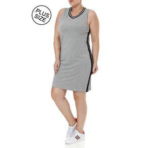 Vestido Plus Size Feminino Autentique Cinza G3