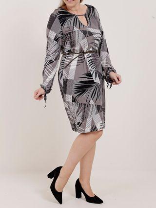 Vestido Plus Size Feminino Rovitex Cinza