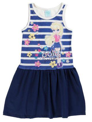 Vestido Polly Infantil para Menina - Azul