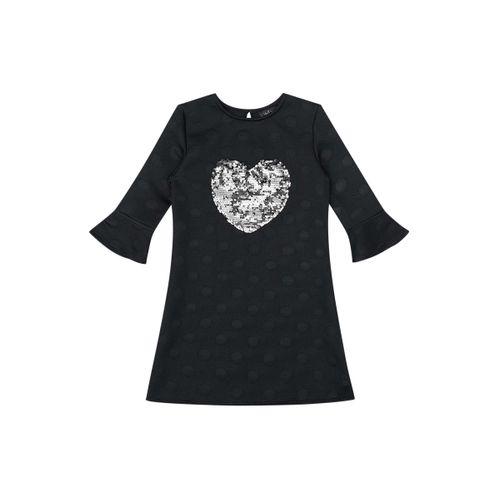 Vestido Preto Coração com Paetê - 6