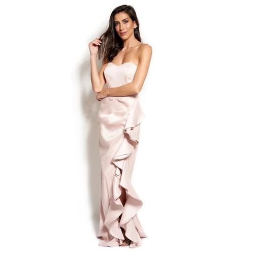 Vestido Rosa Longo Tomara que Caia Badgley Mischka - Rosé/tons Pastel/candy Colors