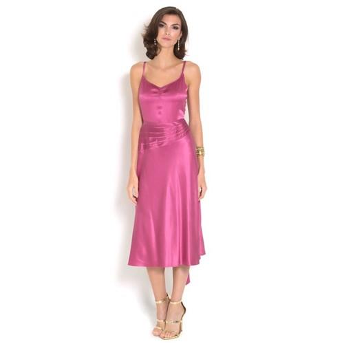 Vestido Rose Midi em Seda Marc Jacobs – Rosa