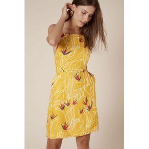 Vestido Strelitzia Detalhe Nó Est Strelitzia Fundo Amarelo - 38