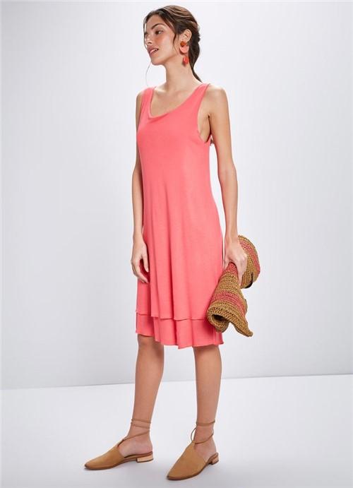 Vestido Tricô + Viscose Curto ROSA G