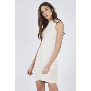 Vestido Tricot Riscado Off White - M