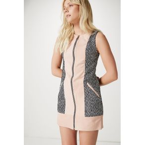 Vestido Tweed Chamois Concept Cinza - G