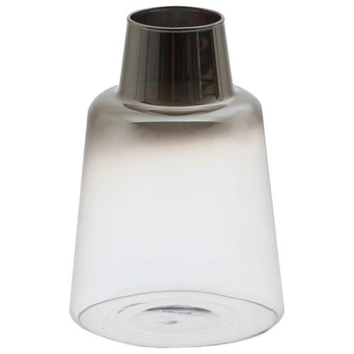 Vesúvio Vaso 10 Cm Incolor/smoke