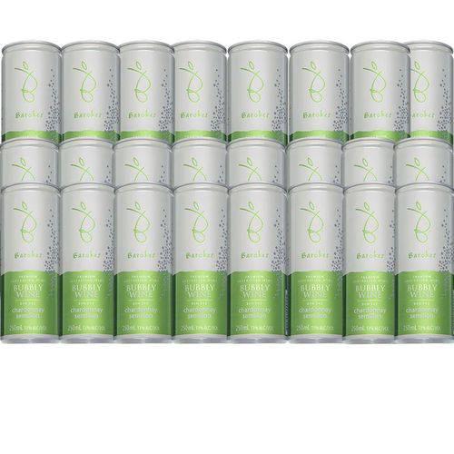 Vinho Branco Frisante Seco Premium Australiano Barokes Pack 24 Latas de 250 Ml