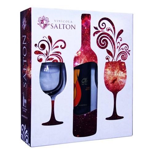 Vinho Brasileiro Salton Class 750ml com 2 Tacas Cabernet Sau