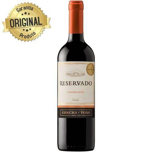 Vinho Chileno Tinto Meio Seco Reservado Carmenere Garrafa 750ml - Concha Y Toro