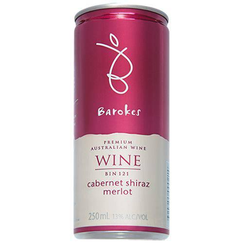 Vinho Tinto Demi-Sec Premium Barokes Australiano em Lata 250 Ml