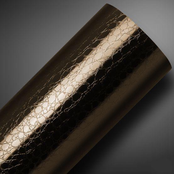 Vinil Gold Croco Marrom 145g 1,22mtx25mts