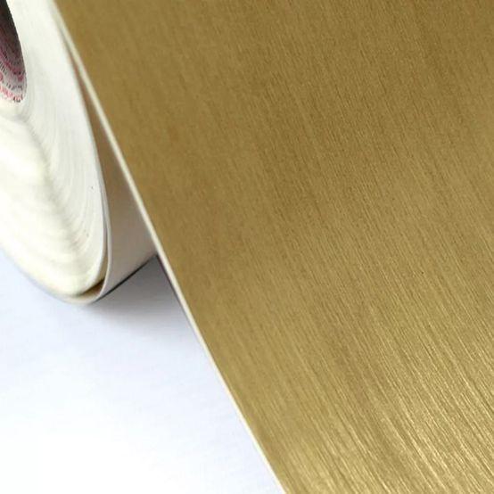 Vinil Gold Escovado Ouro 120g 1,22mtx50mts