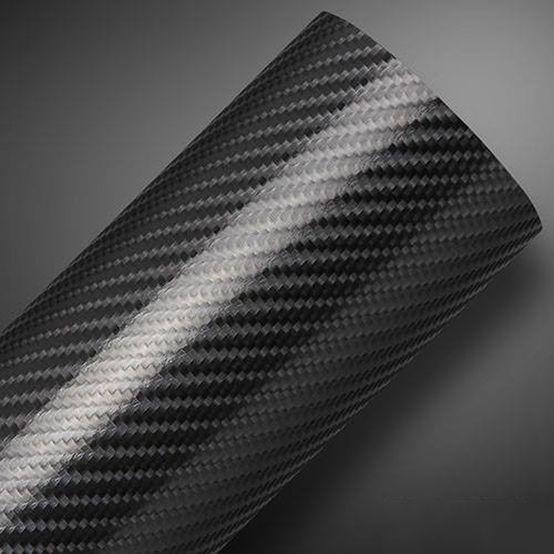 Vinil Tuning Fibra de Carbono 4D Black 1,5mtx25mts