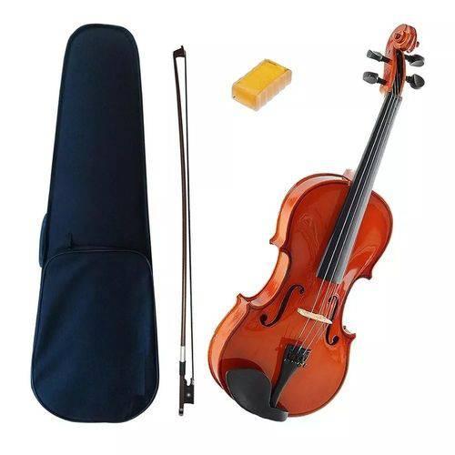 Violino 3/4 Estudante com Estojo, Breu e Arco Acoustic