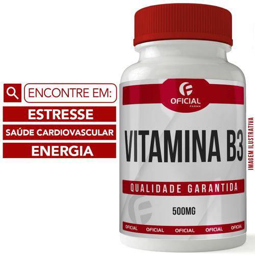Vitamina B3 (niacina) 500mg 60 Cápsulas - Of