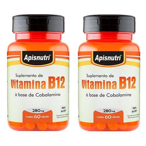 Vitamina B12 (cobalamina) - 2 Un de 60 Cápsulas - Apisnutri