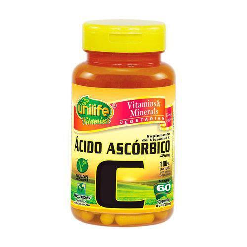 Vitamina C Ácido Ascórbico 60 Capsulas