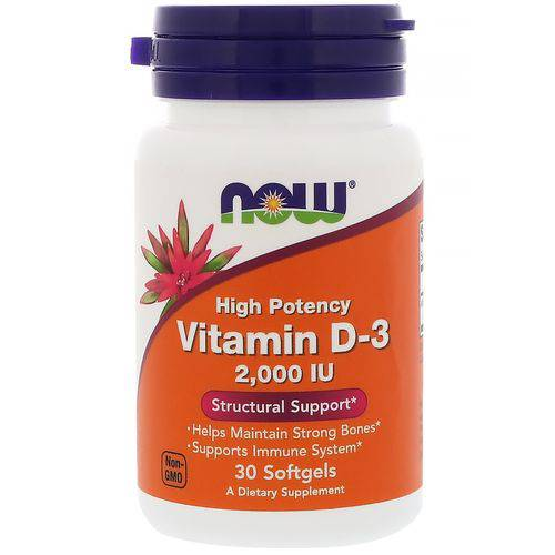Vitamina D-3 2000 Ui 30 Softgels Now Foods