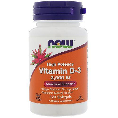 Vitamina D-3 2000 Ui 120 Softgels Now Foods