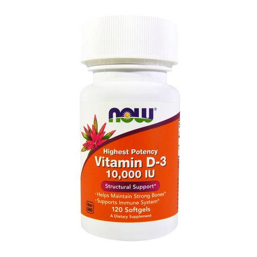 Vitamina D3 10000 Ui (120 Softgels) Now Foods