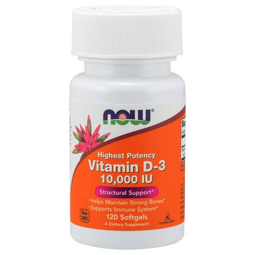 Vitamina D-3 10000iu (120 Softgels) - Now Foods