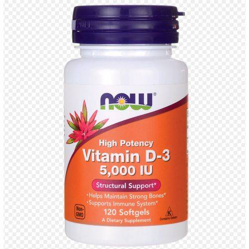 Vitamina D-3 5000 Ui 120 Softgels Now Foods