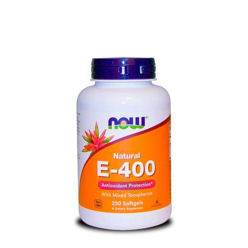 Vitamina e 400 Ui (250 Softgels) Now Foods
