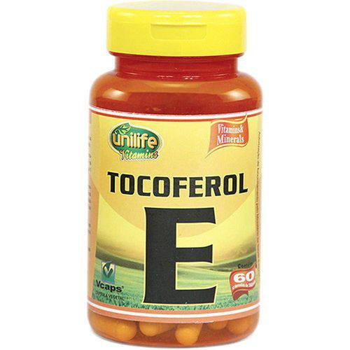 Vitamina e 60 Cápsulas 470mg Tocoferol - Unilife