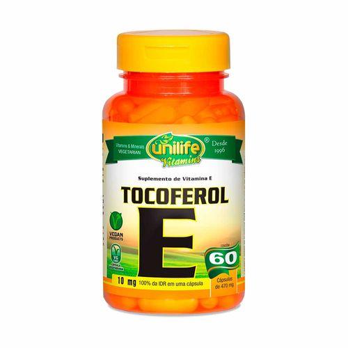 Vitamina e Tocoferol - Unilife - 60 Cápsulas de 470mg