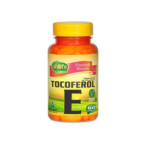 Vitamina e Tocoferol - Unilife - 60 Cápsulas