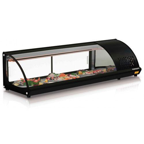 Vitrine de Sushi GVRB160 Gelopar Sushi GVRB160 Preta 110v