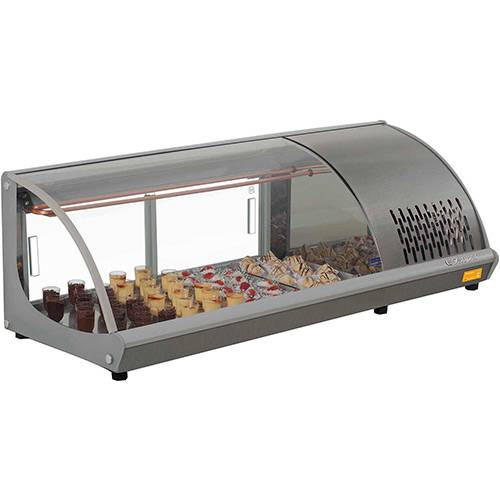 Vitrine Refrigerada de Bancada Gelopar GVRB-120 1,20m Cinza