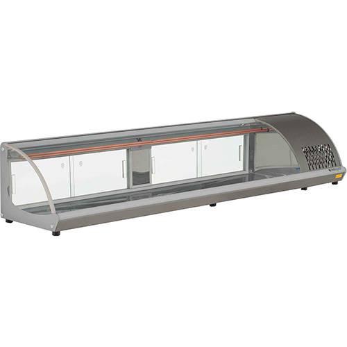 Vitrine Refrigerada de Bancada Gelopar GVRB-210 2,10m Cinza