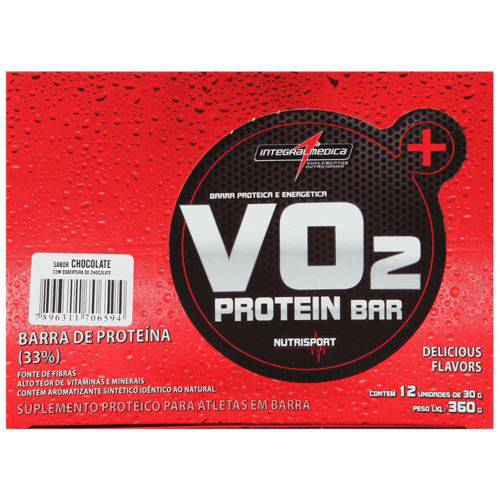 VO2 Protein Bar (12 Barras) Integral Médica