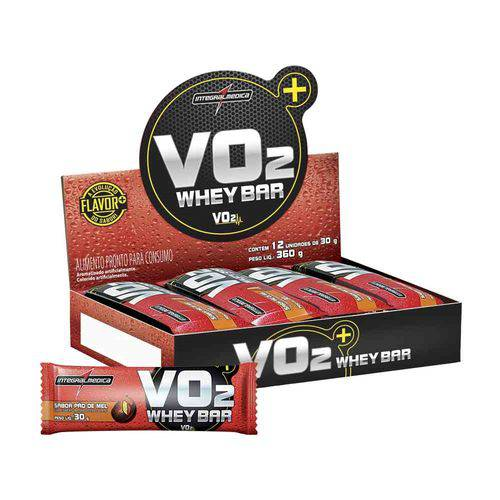 Vo2 Protein Bar 12 Unidades - Pão de Mel - Integralmedica