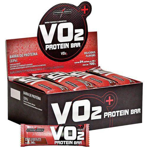 VO2 Protein Bar (caixa C/ 24 Uni) - Integralmédica-Chocolate